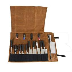 QEES Chef Knife Roll, Heavy Duty Knife Roll Bag for Chefs, P