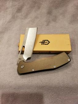 Gerber clip folding pocket knife FLATIRON Nordic green.