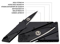 Credit Card Folding Knife Stainless Steel - Metal Handle, Mu