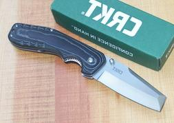 CRKT 4030 RAZEL LINERLOCK FOLDING KNIFE MICARTA HANDLE CHISE