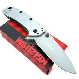 """Kershaw Cryo II Folding Knife 3.38"""" 8Cr13MoV Steel Drop Blad"""