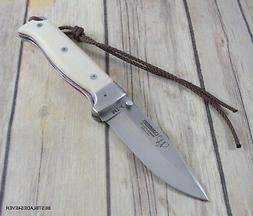 CUDEMAN MT-4 FOLDING KNIFE WHITE MICARTA HANDLE MADE IN SPAI