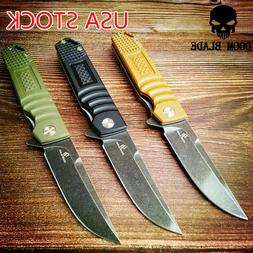 D2 Blade Ball Bearing Knives Folding Knife Flipper Hunting C