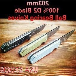 D2 Blade Ball Bearing Knives Folding Knife G10 Handle 3 Colo