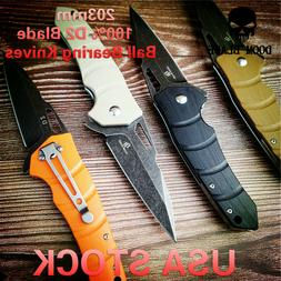 D2 Blade Ball Bearing Knives G10 Handle Folding Knife for Su