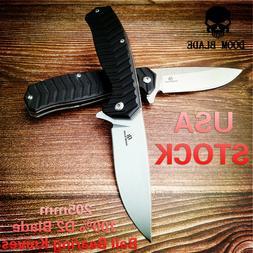 D2 Blade Ball Bearing Knives Hunting Folding Knife G10 Flipp