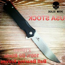 D2 Blade Ball Bearing Knives Tactical Pocket Folding Knife G