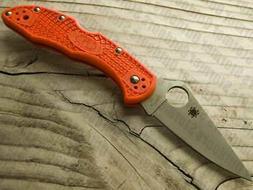 Spyderco Delica4 Lightweight FRN Flat Ground Plain Edge Knif