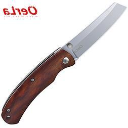 Oerla EDC Small Pocket Folding Knife with Rosewood Handle Ra
