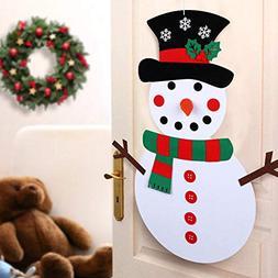 Elaco Felt Material Christmas DIY Felt Snowman Kit Ornaments