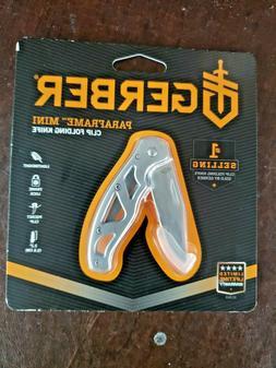 Gerber essentials Mini Paraframe clip folding knife lock bla