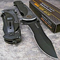 "Tac-force Extra Large Grey 10.5"" Folding Blade Spring Assist"
