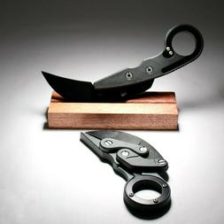 Foldable Karambit Stainless Steel Knife Fixed-Blade for outd