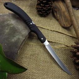 "Folding Fillet Fillet Knife - 5.5"" Stainless Thin Blade - 12"
