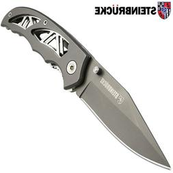 Folding Knife Pocket Knife Titan Coated - Hollow Out Handle