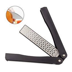 Folding Knife Sharpener, CBTONE 400/600 Grit Portable Handhe