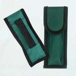 "FOLDING KNIFE SHEATH | 5.5"" Green Nylon Pocket Knife Belt Lo"