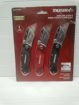 Husky Folding Lock-Back Utility Knife