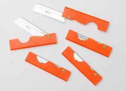 Derma-safe Folding Utility Survival Knife  Orange