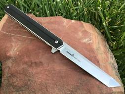 G10 EDC Folding Knife! Ball Bearing Pivot! Razor Sharp D2 St