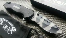 G10 Urban Camo Tiger Stripe Pocket Knife Assisted 1065 Surgi