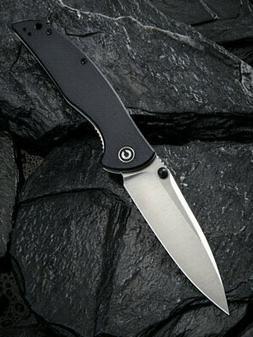 governor linerlock black g10 folding d2 steel