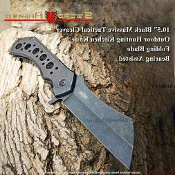 "S-TEC 10.25"" Ball Bearing Cleaver Folding Knife"