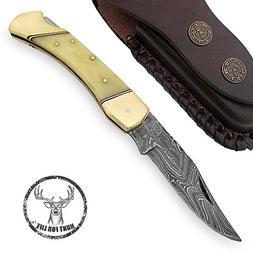 Hunt For Life Lockback Walker Hound Pocket Knife