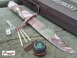 """Wartech HWT04PCM Hunting Knife with Survival Kit, 8"""", Pink C"""