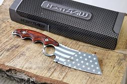 Wartech HWT214 Proud of America Cleaver Fixed Blade Hunting