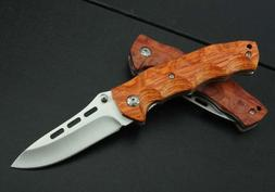 J.C.H. KT35 Rosewood Wooden Handle Pocket Folding Knife Limi
