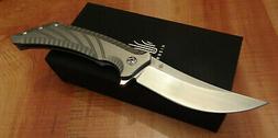 KIZER KI4482A1 PINKERTON NOMAD FLIPPER FOLDING KNIFE S35VN S