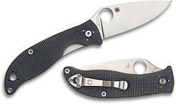 Spyderco Knife Polestar Grey G10 CTS-BD1 Plain Edge C220GPGY