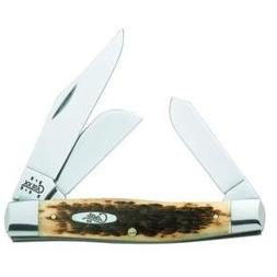 Case Knives 204 Carbon Steel Jumbo Stockman Knife with Amber