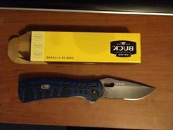 Buck Knives 847 Vantage Force Pro Serrated Black/Blue G10 Fo