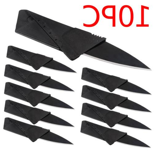 10x Credit Card Knives Folding Wallet Thin Pocket Survival C