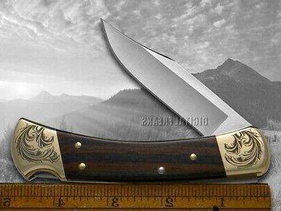 Buck Folding Knife Ebony Wood