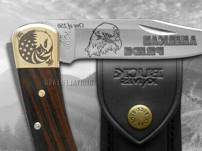 Buck Knife Ebony Wood 1/250 420HC Stainless