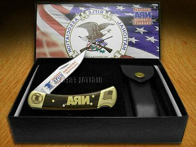 110 folding hunter knife nra national rifle