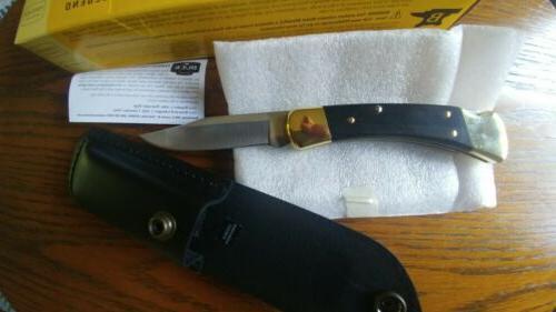BUCK 110BRS Folding Hunter Ebony Pocket Black U.S.A.
