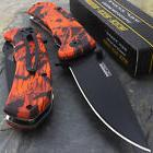 """15 x 8"""" TAC FORCE EDC RED CAMO SPRING ASSISTED POCKET KNIFE"""