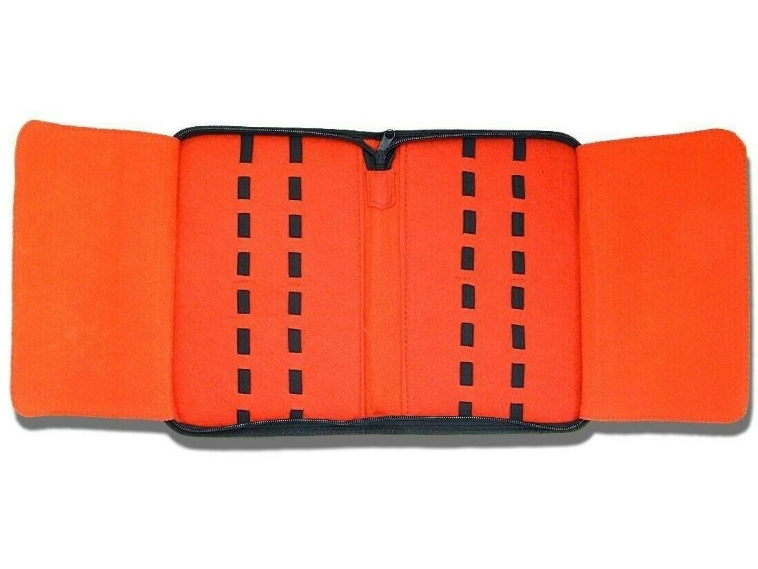 16 Folding Pocket Knife Roll Up Storage Display Case Collect