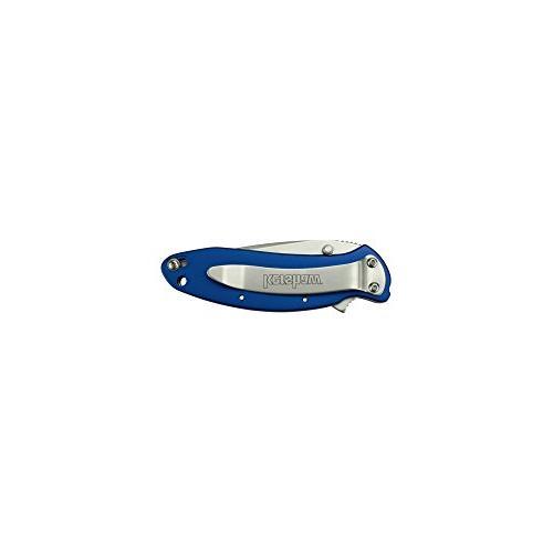 """Kershaw Pocket Knife 2.4"""" 420HC Bead-Blasted and Anodized Aluminum Handle, SpeedSafe Opening, Liner Lock, Slider; OZ"""