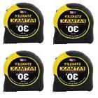 4- PACK STANLEY 30 FT FATMAX TAPE MEASURE - NEW SEALED PACKA
