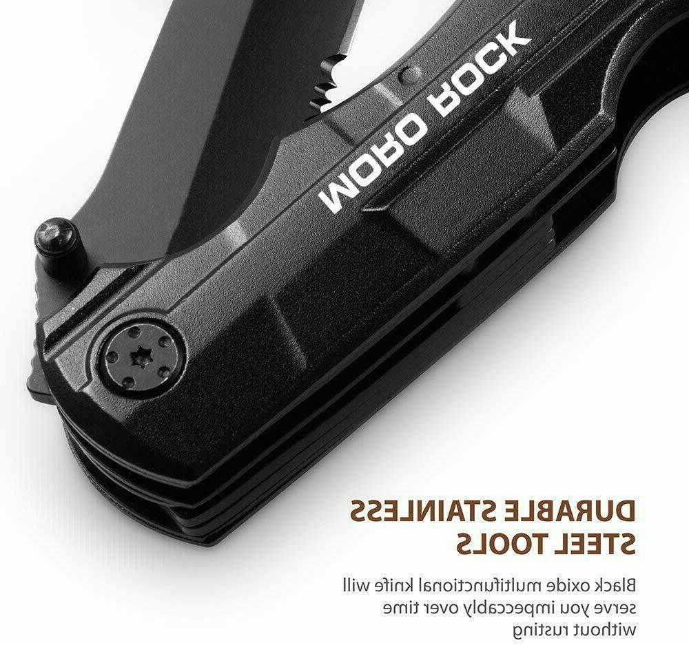 "7.5"" Pocket Knife Multi Purpose Multitool Tactical Camping Folding Blade"