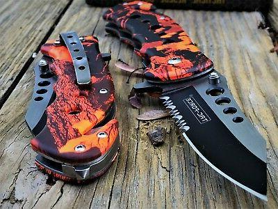 """7.75"""" FORCE ASSISTED RED FOLDING BLADE NEW"""