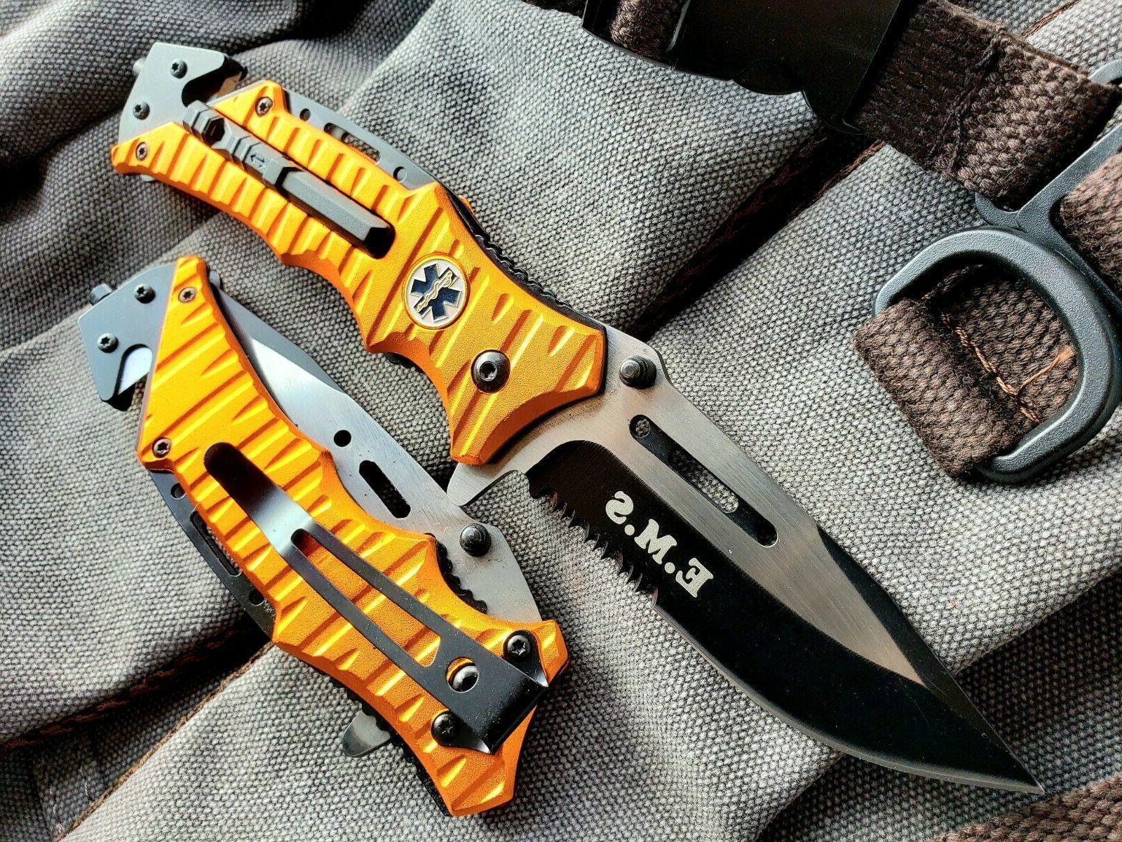 """8.25"""" EMS Open Pocket Knife"""
