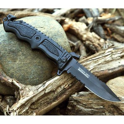 OPEN TACTICAL FOLDING POCKET KNIFE BREAKER