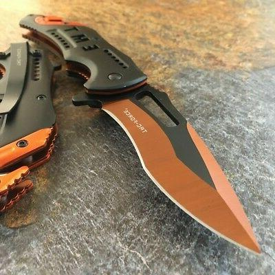 "8"" TAC FORCE EMT SPRING ASSISTED TACTICAL FOLDING KNIFE Blad"
