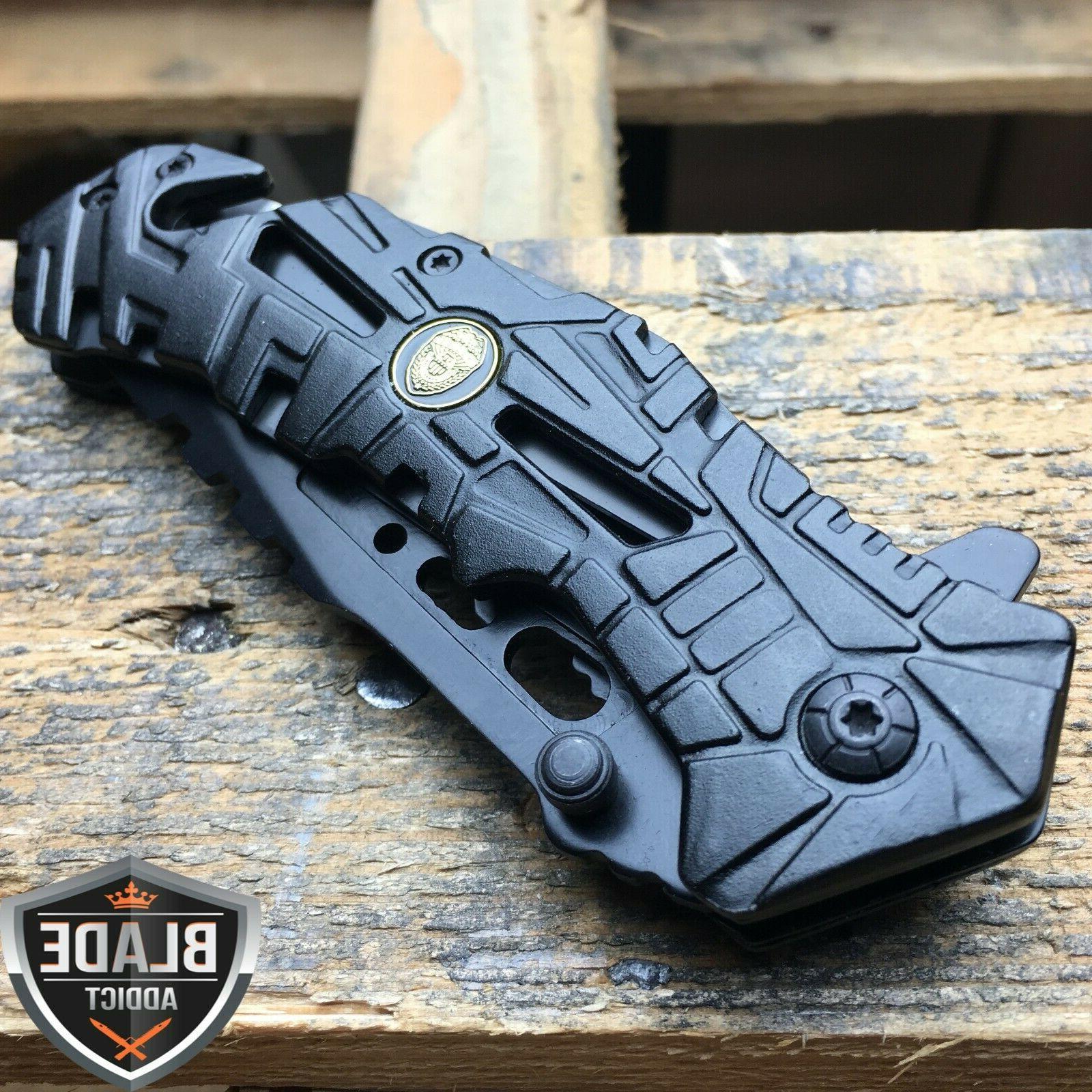 """8"""" Black Open Folding Knife"""